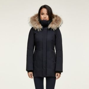 AYLEEN-SP slim fit classic down coat with removabl